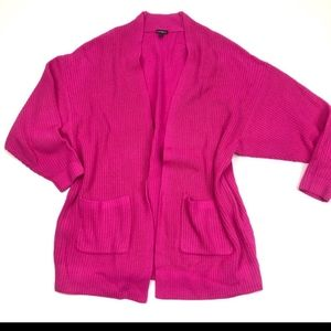 Hot pink knit cardigan